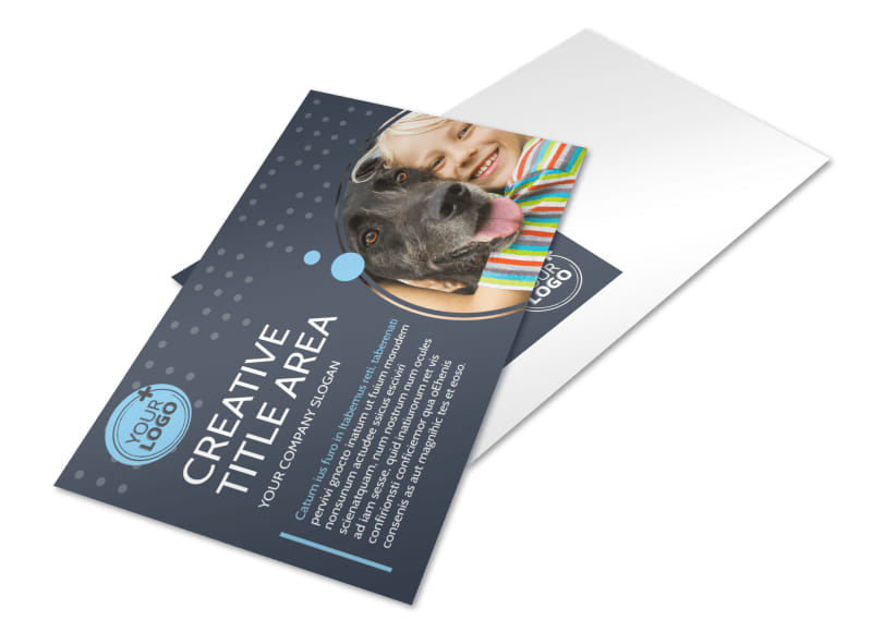Pet Project Rescue Postcard Template