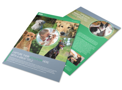 Dog Wash & Grooming Flyer Template preview