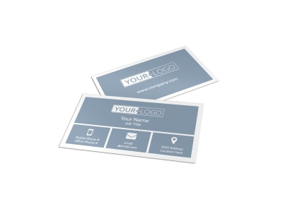 Dog Wash & Grooming Business Card Template preview