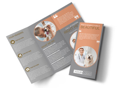 Valley Veterinary Clinic Tri-Fold Brochure Template