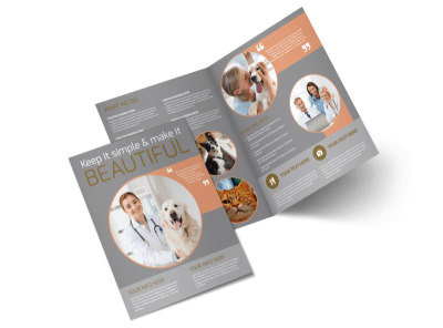 Valley Veterinary Clinic Bi-Fold Brochure Template