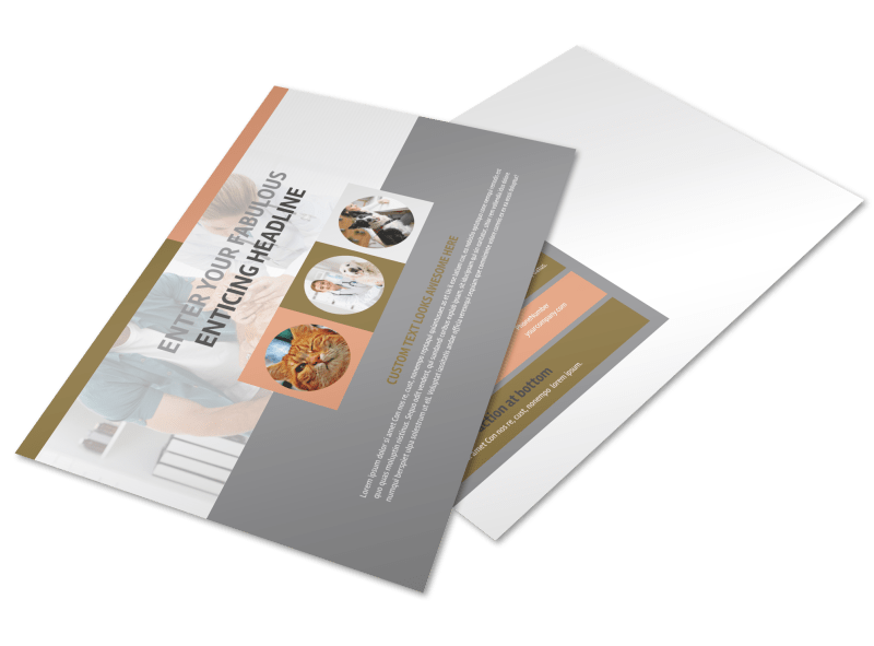 Valley Veterinary Clinic Postcard Template Preview 1