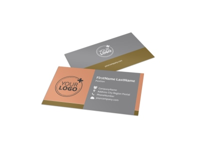 Valley Veterinary Clinic Business Card Template preview