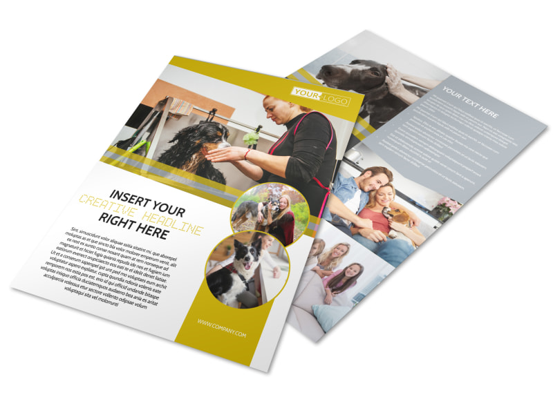 Dog Wash Service Flyer Template