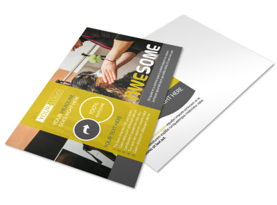 Dog Wash Service Postcard Template preview