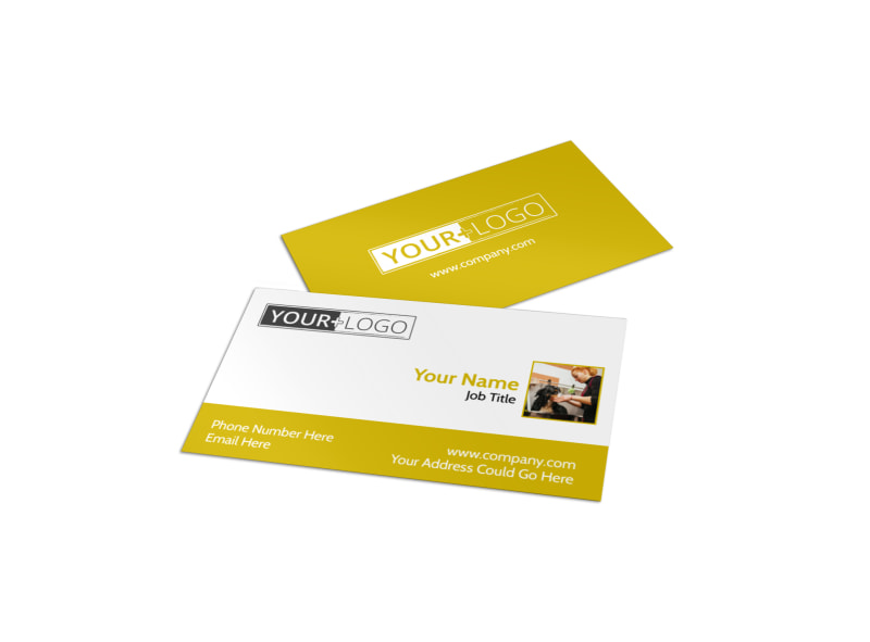 Dog Wash Service Business Card Template