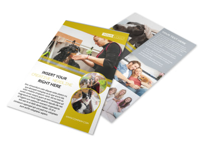 Dog Wash Service Flyer Template preview
