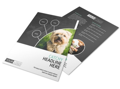 Pet Groomers Flyer Template preview