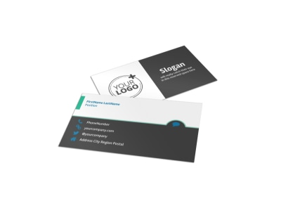 Pet Groomers Business Card Template preview