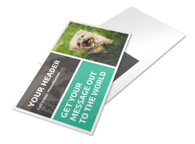 Pet Groomers Postcard Template preview