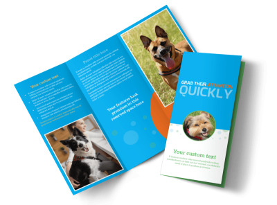 Doggie Daycare Tri-Fold Brochure Template