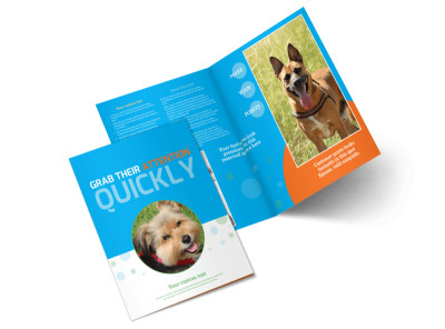 Doggie Daycare Bi-Fold Brochure Template