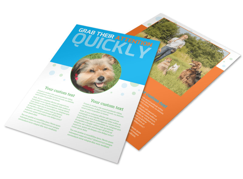 Doggie Daycare Flyer Template