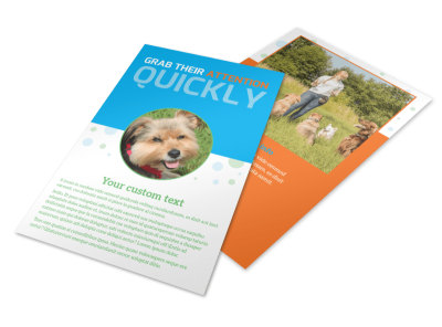 Doggie Daycare Flyer Template preview