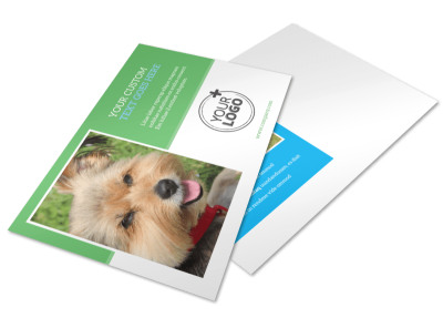 Doggie Daycare Postcard Template preview