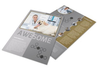 Local Veterinary Clinic Flyer Template