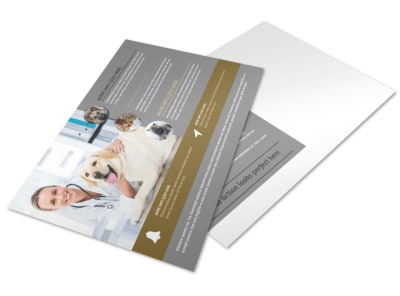 Local Veterinary Clinic Postcard Template