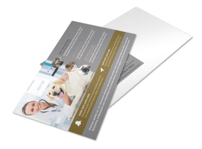 Local Veterinary Clinic Postcard Template preview