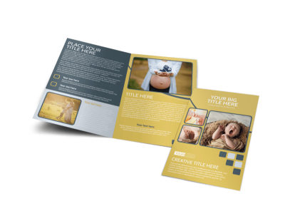 Infant Photography Bi-Fold Brochure Template