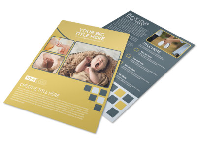 Infant Photography Flyer Template preview