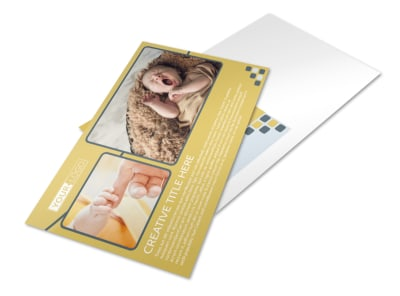 Infant Photography Postcard Template preview