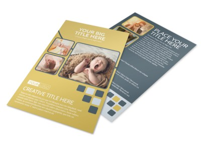 Infant Photography Flyer Template