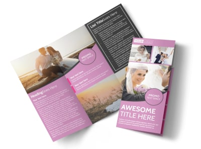 Wedding & Portrait Photography Tri-Fold Brochure Template preview