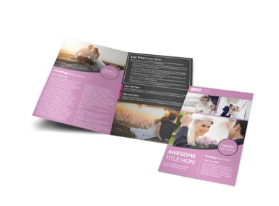 Wedding & Portrait Photography Bi-Fold Brochure Template