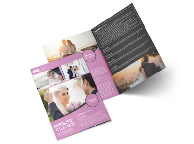 Wedding & Portrait Photography Bi-Fold Brochure Template preview