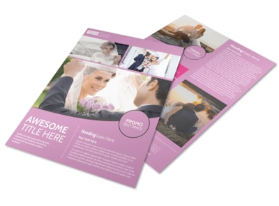 Wedding & Portrait Photography Flyer Template preview