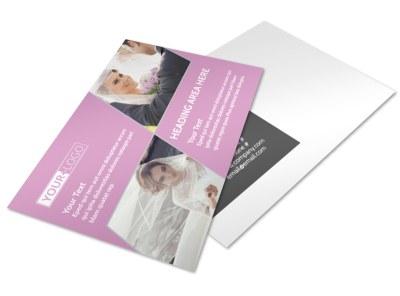 Wedding & Portrait Photography Postcard Template preview