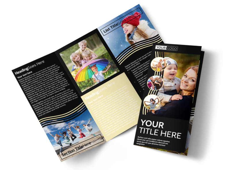 Playful Moments Photography Tri-Fold Brochure Template