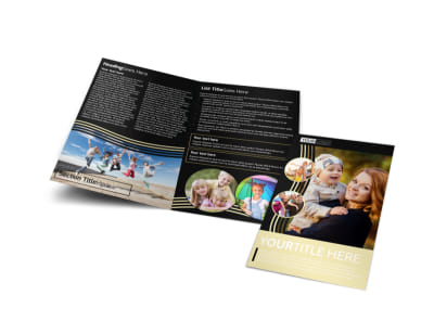 Playful Moments Photography Bi-Fold Brochure Template