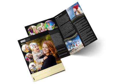 Playful Moments Photography Bi-Fold Brochure Template preview