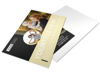 Playful Moments Photography Postcard Template preview