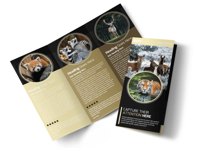 Wildlife Photography Brochure Template Preview 1