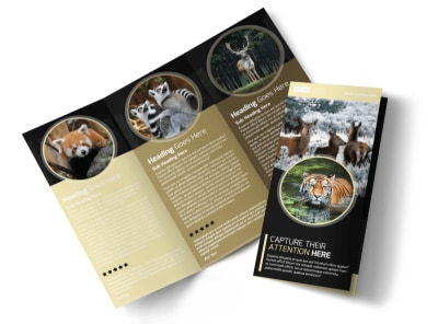 Wildlife Photography Tri-Fold Brochure Template preview