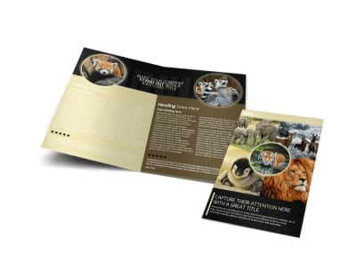 Wildlife Photography Bi-Fold Brochure Template preview
