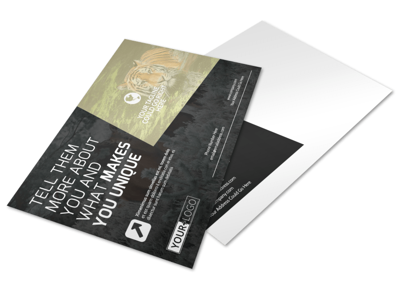 Wildlife Photography Postcard Template Preview 1