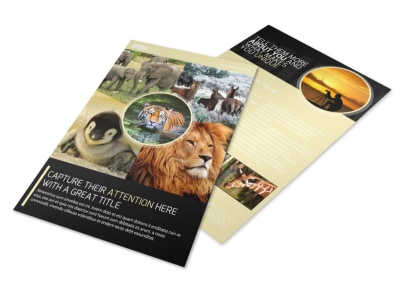 Wildlife Photography Flyer Template preview