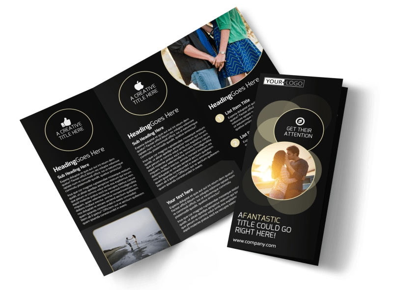 Couple Photography Tri-Fold Brochure Template