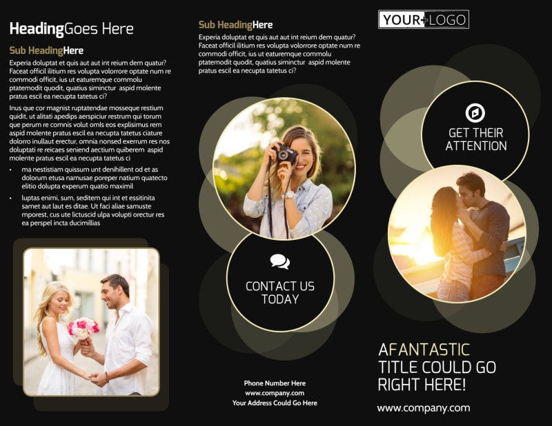 Couple Photography Brochure Template Preview 2