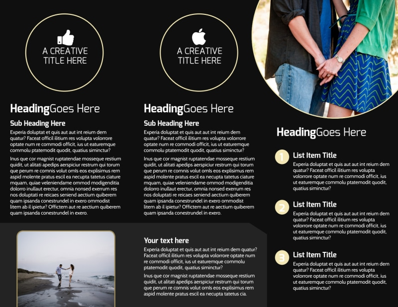 Couple Photography Brochure Template Preview 3