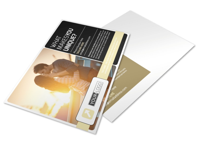 Couple Photography Postcard Template