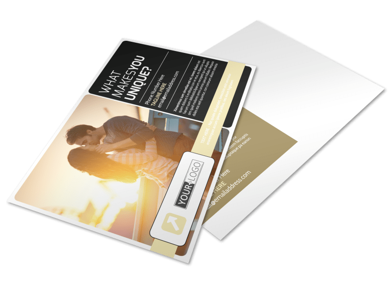 Couple Photography Postcard Template Preview 1