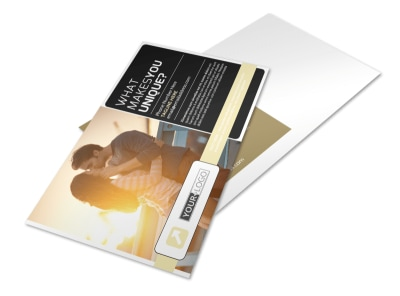 Couple Photography Postcard Template preview