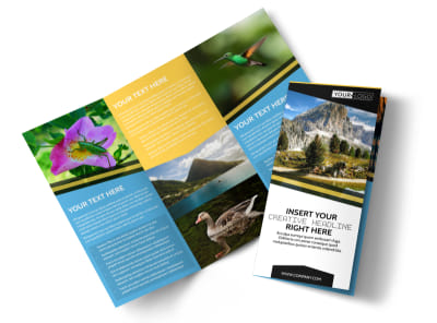 Nature Photography Tri-Fold Brochure Template preview
