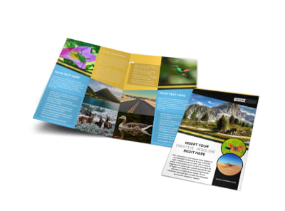 Nature Photography Bi-Fold Brochure Template preview