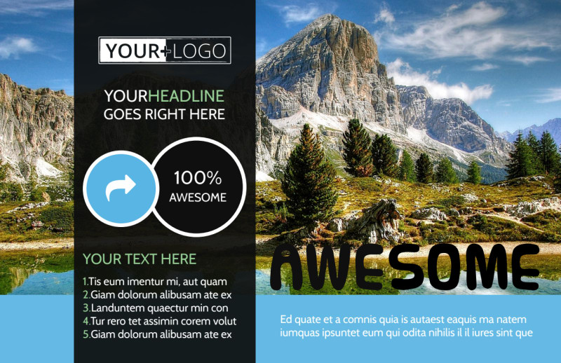 Nature Photography Postcard Template Preview 2