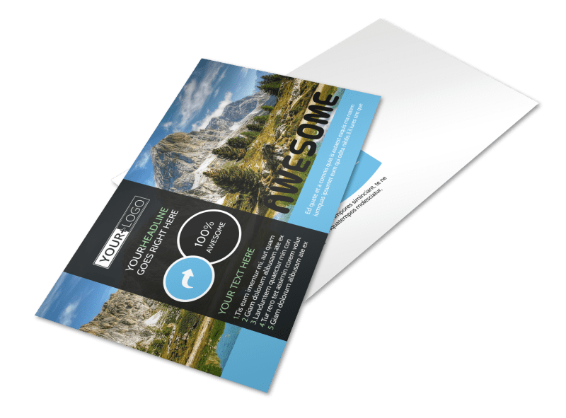 Nature Photography Postcard Template Preview 1